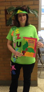 April 2015 Cindy as Chicka Chicka Boom Boom character 2