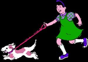 girl-running-with-dog-icon