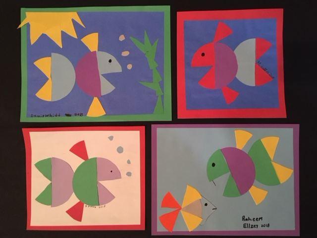 Math Fraction Art Project